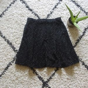 Black A line short skirt